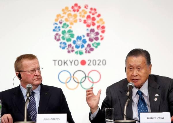 John Coates et Yoshiro Mori - Tokyo 2020