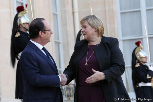 François Hollande et Erna Solberg