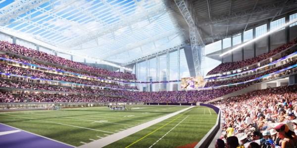 New Minneapolis Stadium - vue intérieure du terrain