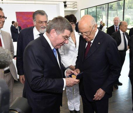 Thomas Bach et Giorgio Napolitano
