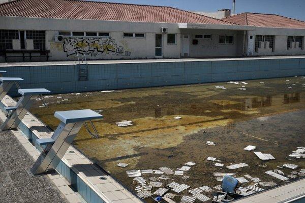 Athènes 2004 - piscine d'entrainement