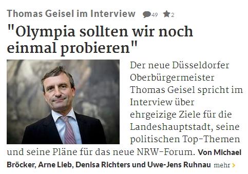 Düsseldorf 2024 - Thomas Geisel interview