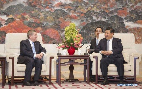 Pékin 2022 - Thomas et Xi Jinping - rencontre