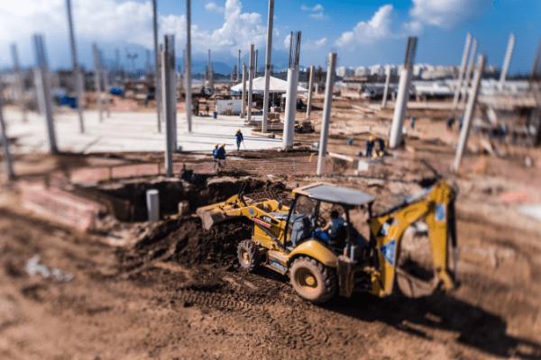 Rio 2016 - travaux du Parc Olympique de Barra - juillet 2014