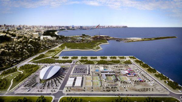 Bakou 2015 - visuel du Centre Aquatique