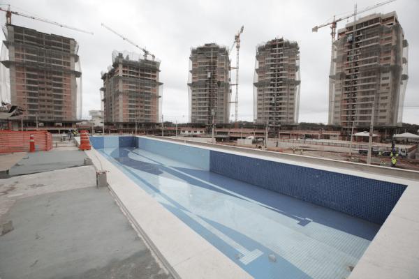 Rio 2016 - chantier du Village Olympique