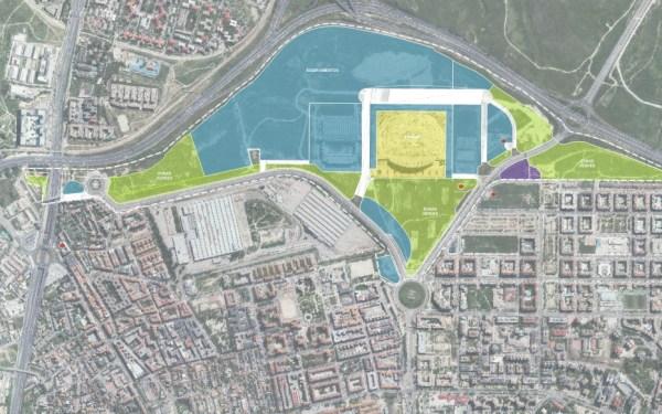 Parc Olympique de Madrid - Plan d'aménagement urbain