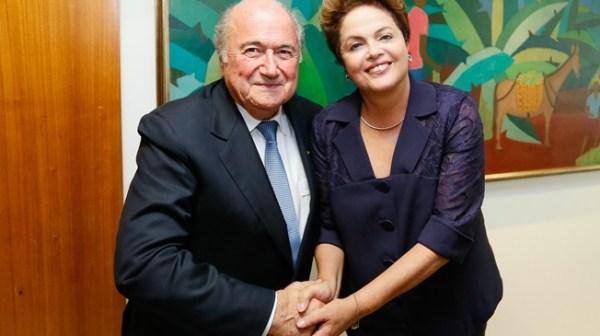 Sepp Blatter et Dilma Rousseff
