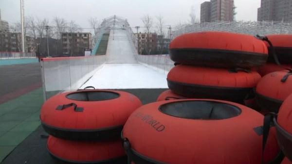 Pékin 2022 - parc à glace - tremplin