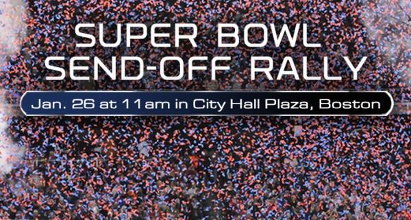 Super Bowl - rassemblement Boston