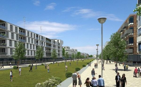 Berlin Tegel - vue du Village Olympique
