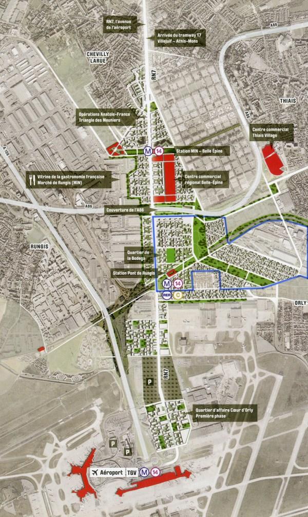 Paris 2024 - Thiais - zone Senia et environs