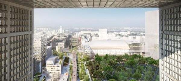 Arena 92 - vue de la Tour de la Défense