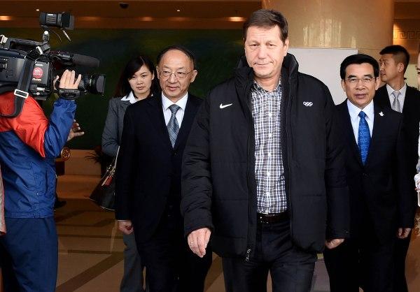 Pékin 2022 - arrivée d'Alexander Zhukov