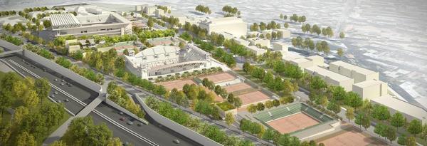 Roland Garros - vue du projet