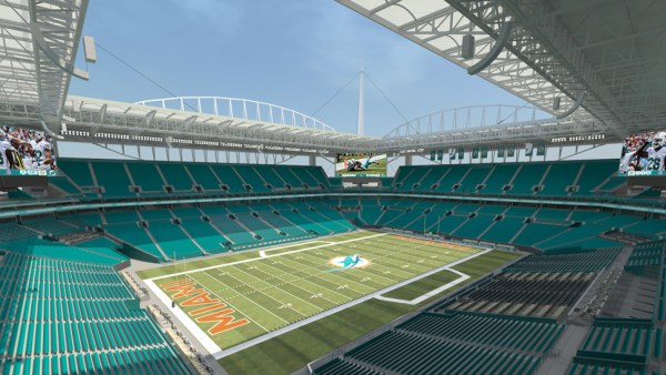 Sun Life Stadium de Miami - vue du terrain