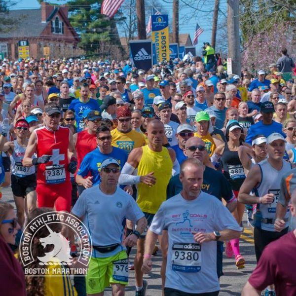 Marathon de Boston - coureurs