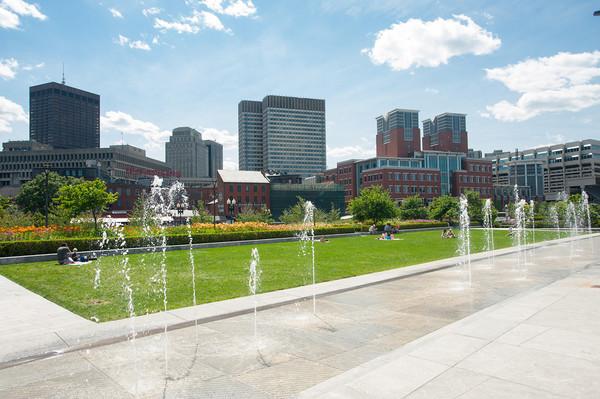 Vue d'un parc de Boston (Crédits - Boston 2024)