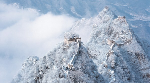 Pékin 2022 - Muraille de Chine enneigée