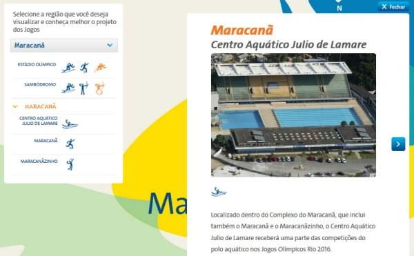 Capture d'écran du site officiel des Jeux de Rio 2016