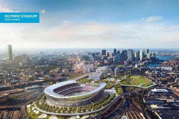 Visuel du Stade Olympique de 60 000 places (Crédits - Boston 2024)