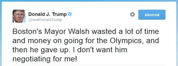 (Crédits - Capture d'écran du tweet de Donald Trump)