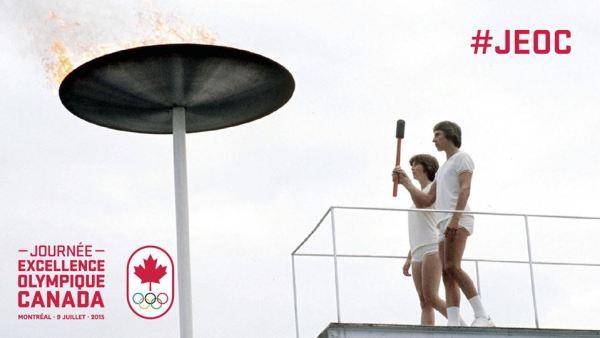 Allumage de la vasque des Jeux de Montréal 1976 (Crédits - Comité Olympique du Canada)
