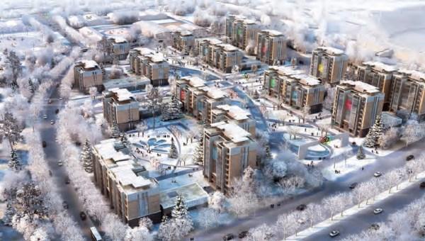 Visuel du Village des Athlètes de Pékin (Crédits - Pékin 2022)