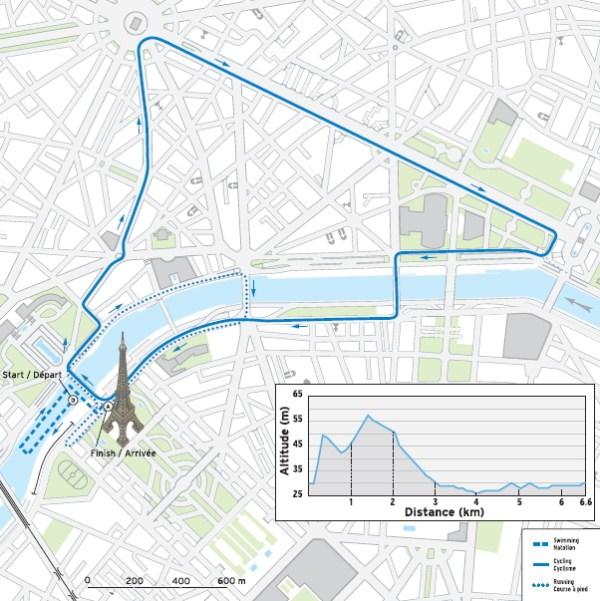 Parcours du triathlon du projet de Paris 2012 (Crédits - Paris 2012)