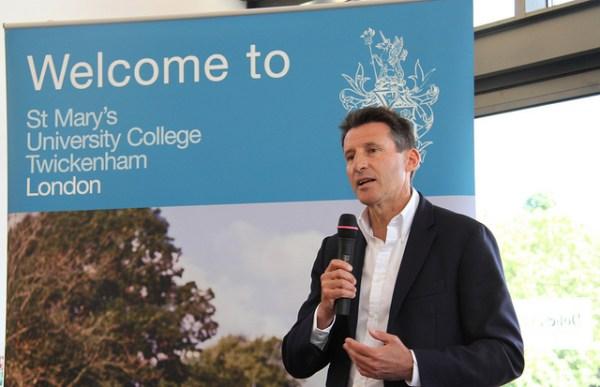 Sebastian Coe en 2012 (Crédits - St Mary's University College)