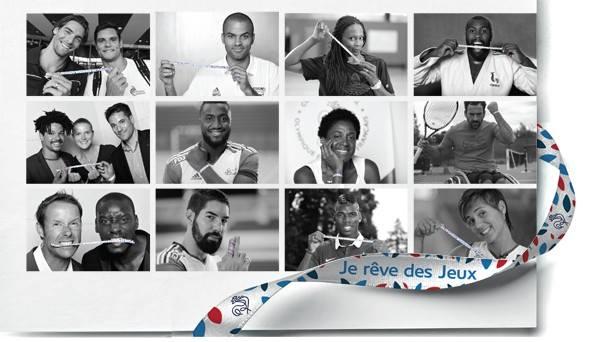 Plusieurs sportifs français se mobilisent en faveur de la candidature de Paris (Crédits - Paris 2024 / CNOSF)