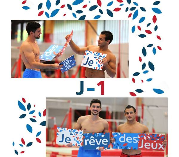 Les gymnastes Hamilton Sabot et Samir Ait Said soutiennent la candidature de Paris 2024 (Crédits - France Olympique)