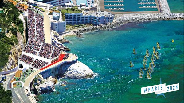 Visuel de la Corniche d'où plus de 30 000 spectateurs pourraient assister aux épreuves (Crédits - Paris 2024)