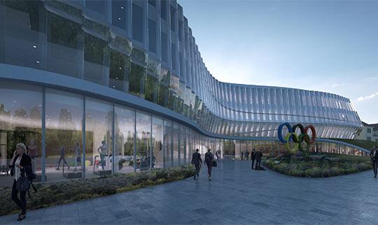 Visuel de la future Maison Olympique (Crédits - CIO / 3XN)