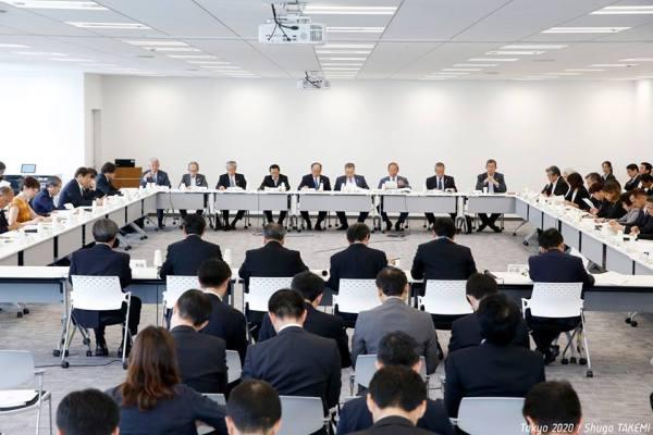 Réunion du Conseil d'Administration de Tokyo 2020, le 12 juin dernier (Crédits - Tokyo 2020)