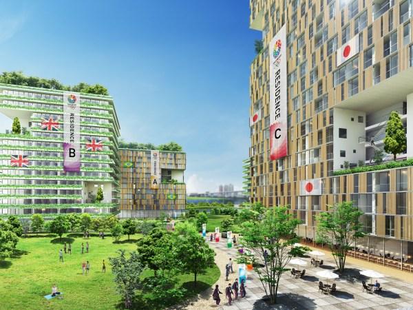 Visuel du Village des Athlètes présenté dans le dossier de candidature (Crédits - Tokyo 2020)