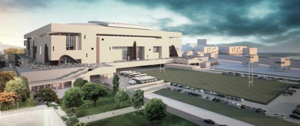 Visuel du projet de Grand Stade (Crédits - FFR / Grand Stade de rugby)