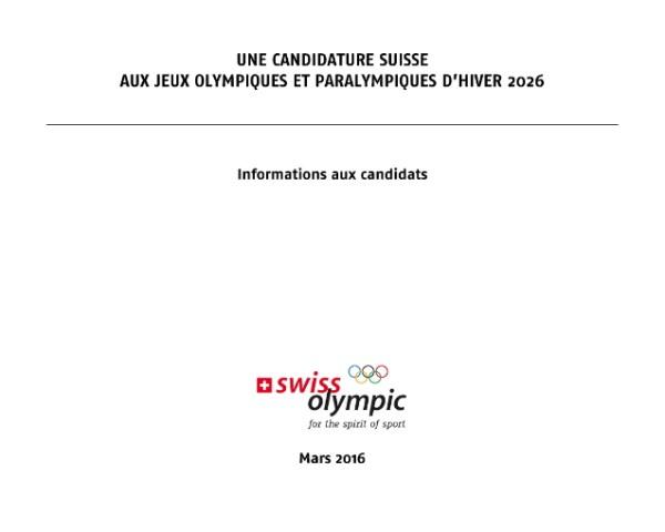 """Capture d'écran du document """"Informations aux candidats"""" (Crédits - Sport & Société)"""