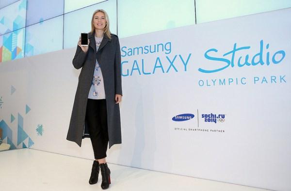 Maria Sharapova fut l'une des égérie de Samsung à l'occasion des Jeux de Sotchi 2014 (Crédits - Samsung / Flickr)