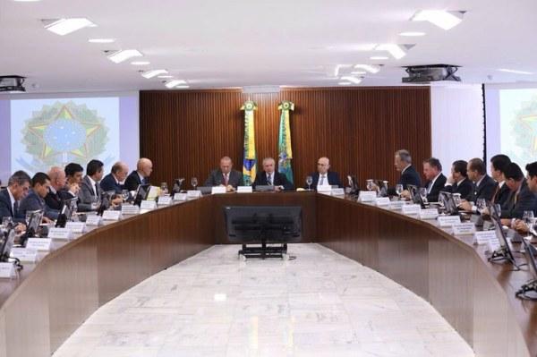 La semaine dernière, Michel Temer a réuni les membres du nouveau Gouvernement du Brésil (Crédits - Assessoria de Imprensa / Michel Temer)