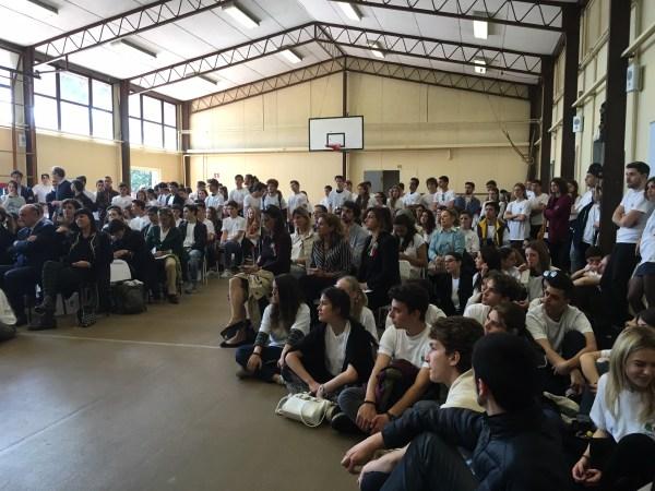 Élèves et enseignants du Lycée Kennedy de Rome ont assisté à la présentation du dispositif (Crédits - Roma 2024)