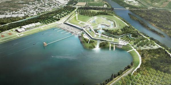 Visuel de la future base nautique (Crédits - Paris 2024)