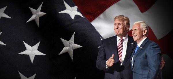 Donald Trump et son colistier Mike Pence (Crédits - Site Internet de campagne)
