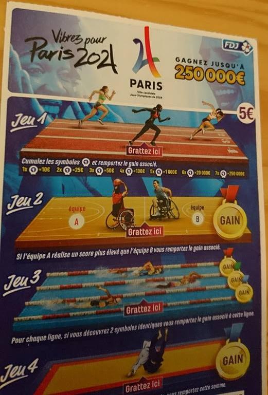 Exemplaire du nouveau jeu à gratter de la FDJ (Crédits - Sport & Société)