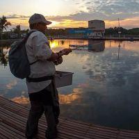 Fishing at Jurassic SW Pond in Sepang Selangor