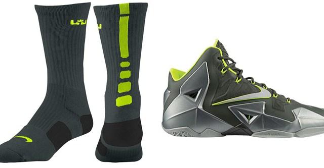 "the best attitude e85b6 6ac36 Nike LeBron Elite Basketball Socks ""Dunkman"" Colorway"