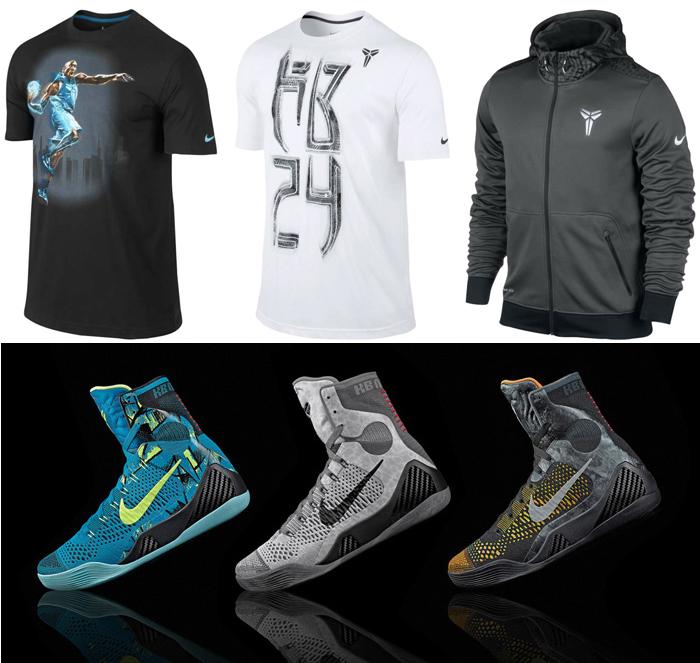 Nike Kobe 9 Clothing Shirts and Shorts