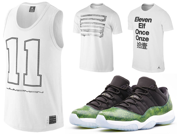 a472168c2b05 Air Jordan 11 Nightshade Snakeskin Shirts