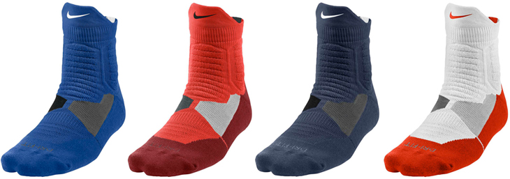 buy online 58b9f 62ec0 nike-kobe-9-independence-day-socks