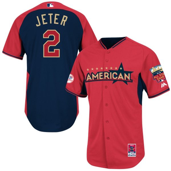 Derek Jeter NY Yankees 2014 MLB All Star Game Jersey  5d2958decbb